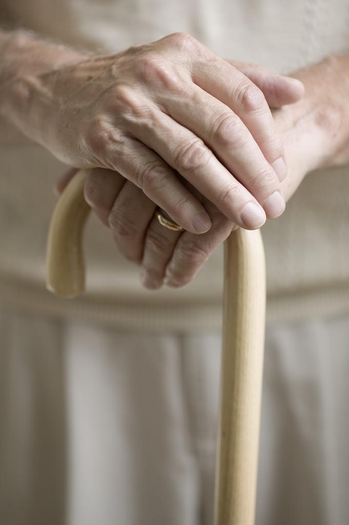 Senior Man with Cane